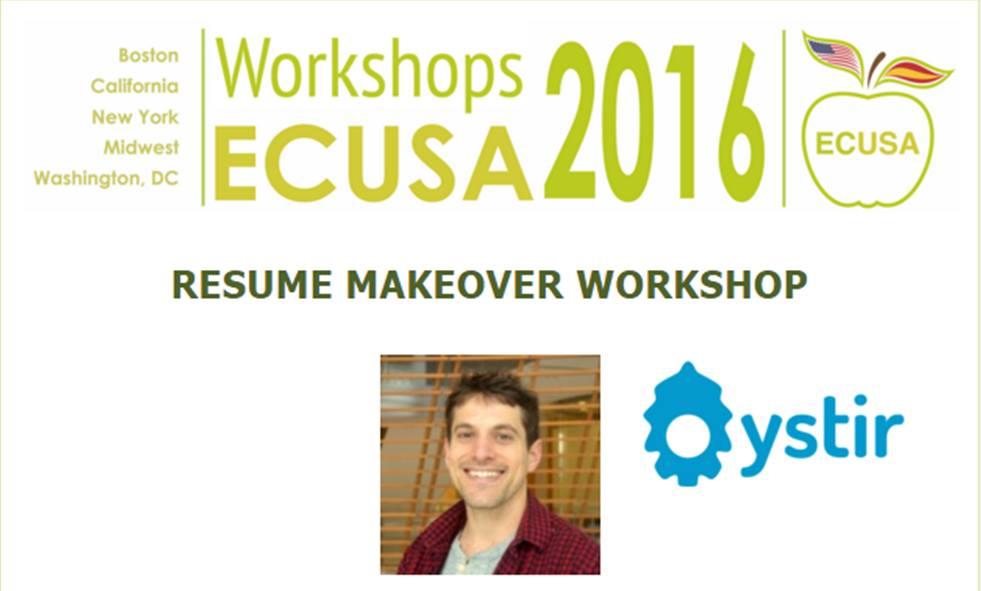 Ecusa NY Resume Makeover Workshop - La Nacional